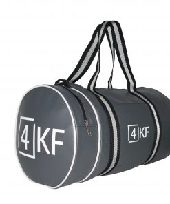 Gym Bag 4KF Sports Duffel Bag with Wet Pocket for Men and Women Travel Gray