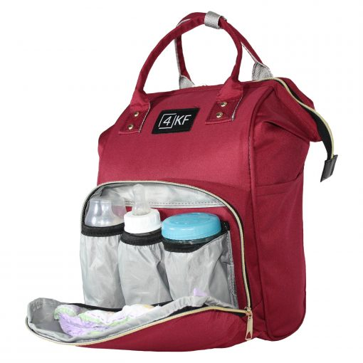 Diaper Bag Backpack Designer Baby Nappy Bag for Girls & Boys Waterproof Travel Backpack for Baby Care, Large Capacity, Stylish and Durable, Claret Red